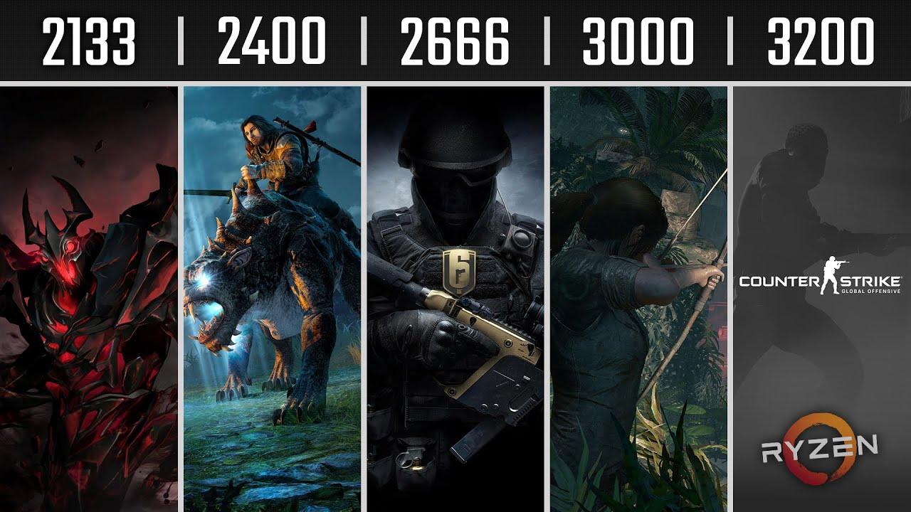 RAM 2133 vs 2400 vs 2666 vs 3000 vs 3200 Mhz | Ryzen 5 2600 | 1080p, 1440p,  4K Gaming Benchmarks