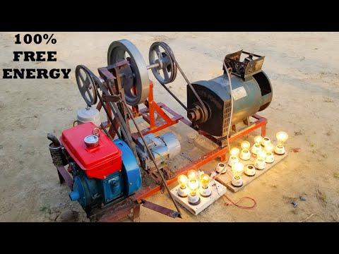 Homemade 220V Lifetime Free Energy Genarator