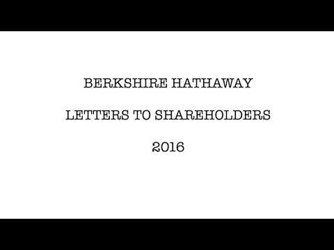 Berkshire Hathaway Letters to Shareholders - 2016