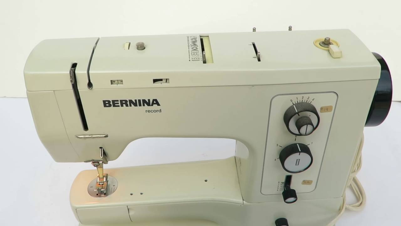 Vintage Bernina Sewing Machine with a Letter to the Owner ...