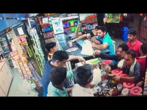 Faridabad Haryana Fight at bus stand NIT 1