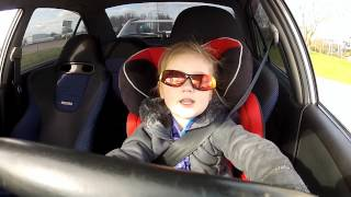 Repeat youtube video 3 year old driving a Mitsubishi Lancer Evo 6 with 320hp MUST SEE!