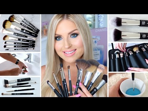 how to clean makeup brushes ♡ new xobeauty italian brush