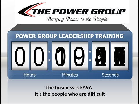 POWER GROUP NATIONWIDE TRAINING FOR NEW ASSOCIATES