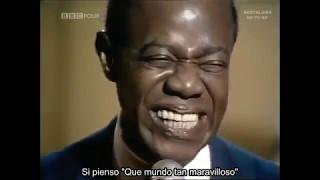 What A Wonderful World Louis Amstrong Español