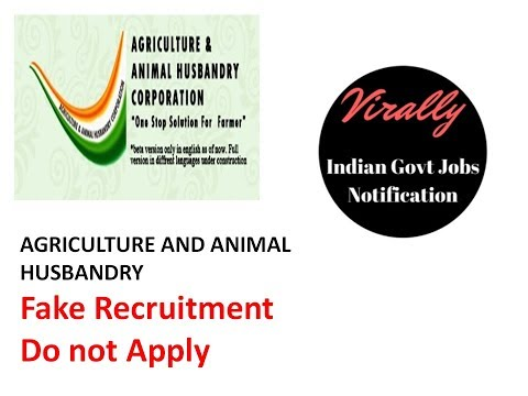 Agriculture and Animal Husbandry Corporation Fake Recruitment