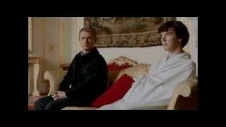 Sherlock Bed Sheet Scene