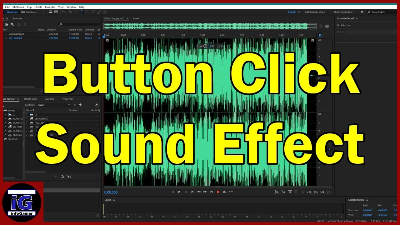 How to Make a Button Sound Effect for Video Games in Unity - Adobe Audition