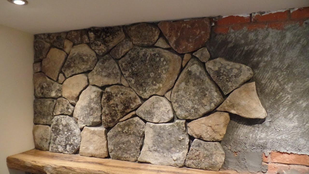 Natural Stone Veneer Installation Fireplace Youtube