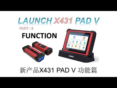 LAUNCH X431 PAD V - Part 2 (FUNCTION)