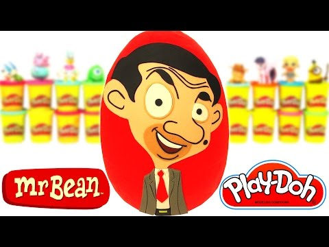 Huevo Sorpresa Gigante de Mr. Bean Animado en Español de Plastilina Play Doh