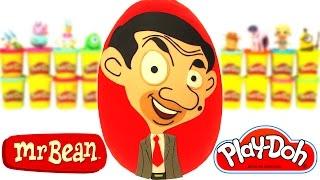 - Huevo Sorpresa Gigante de Mr. Bean Animado en Espaol de Plastilina Play Doh