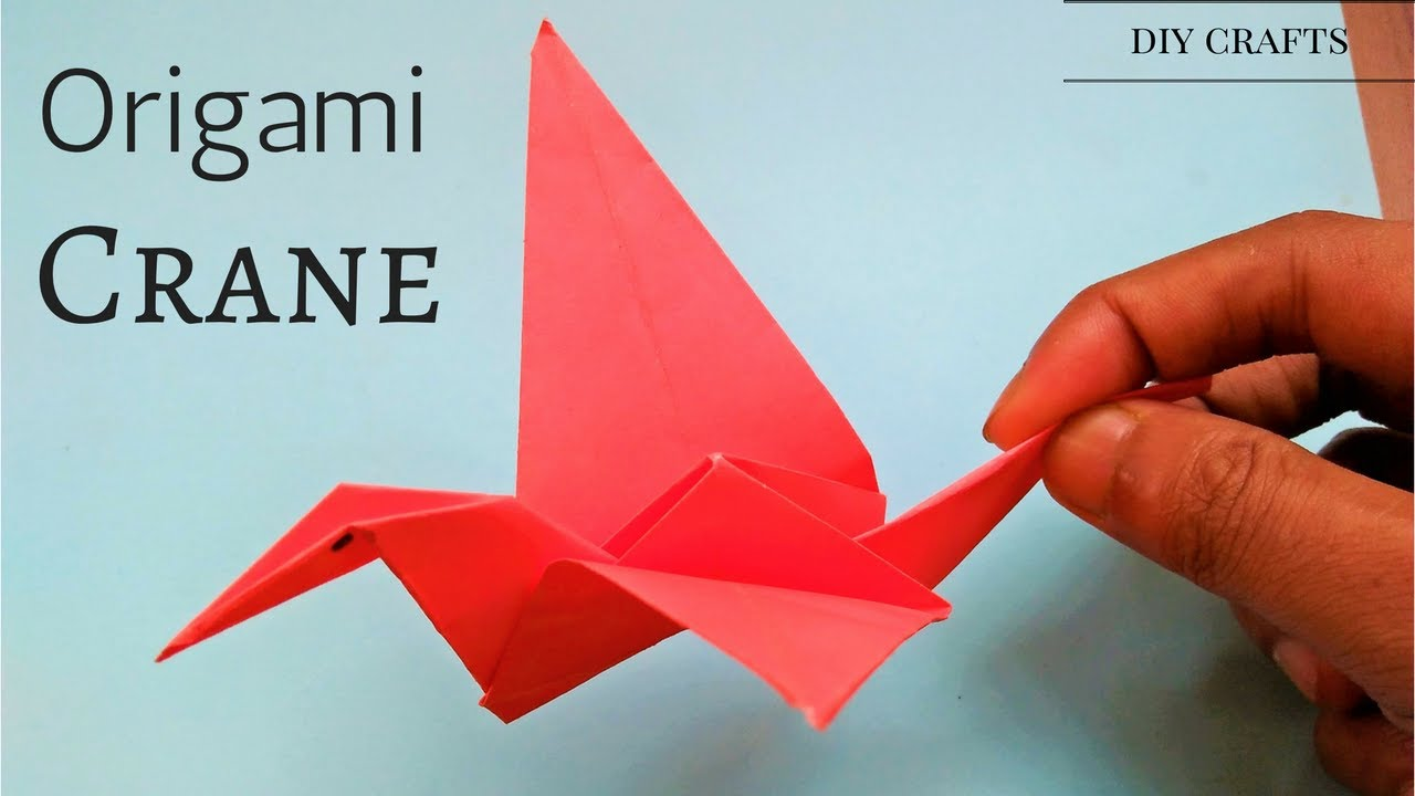 Origami crane tutorial easy simple step by step how for Crane tutorial