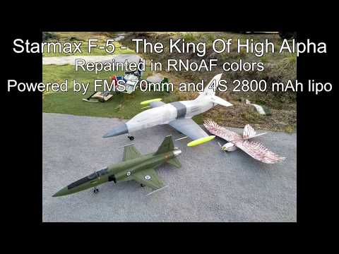 Starmax F-5 Flying Around Doing A Lot Of High Alpha