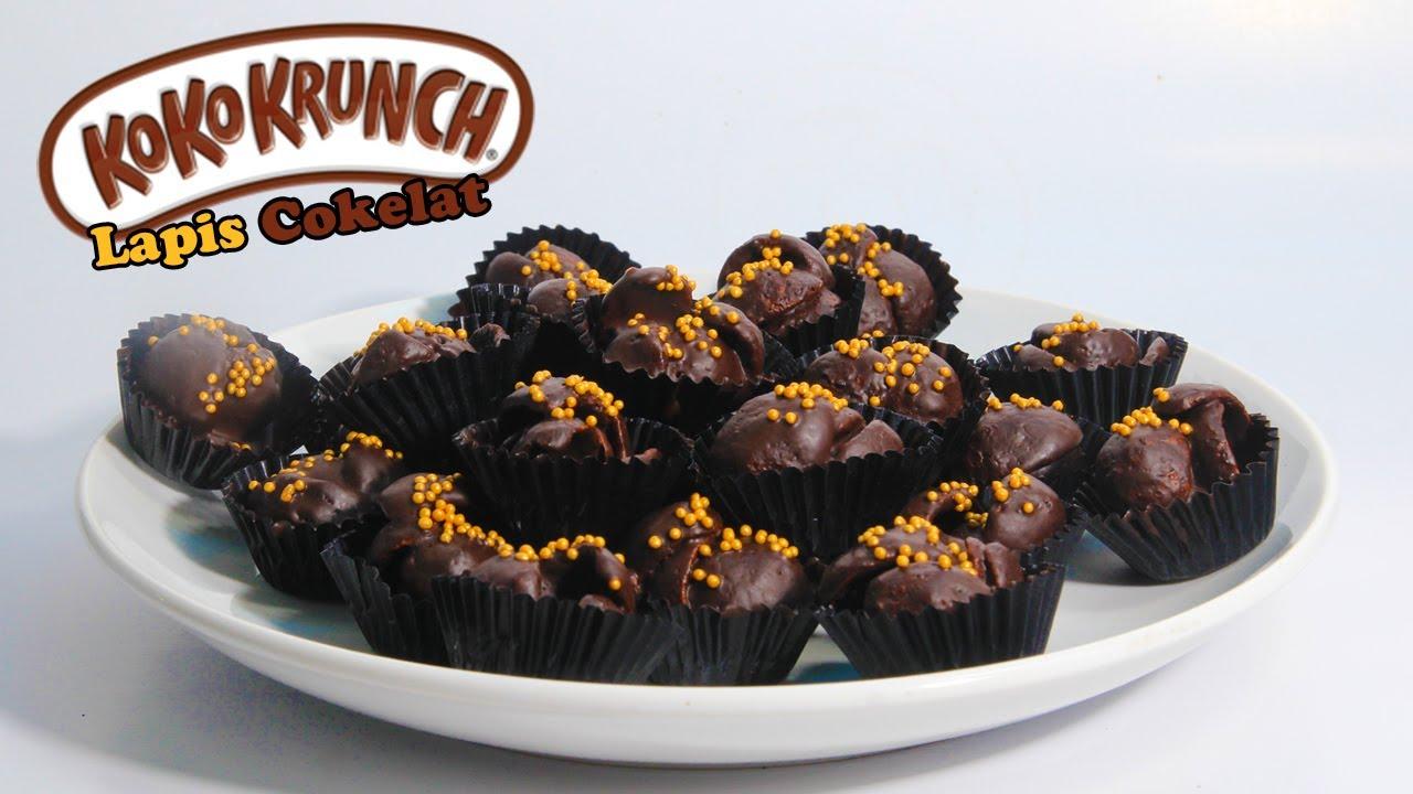 Cara Membuat Koko Krunch Lapis Cokelat