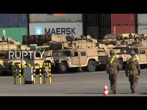LIVE: US Army equipment arrives to Gdansk for deployment in Eastern Europe