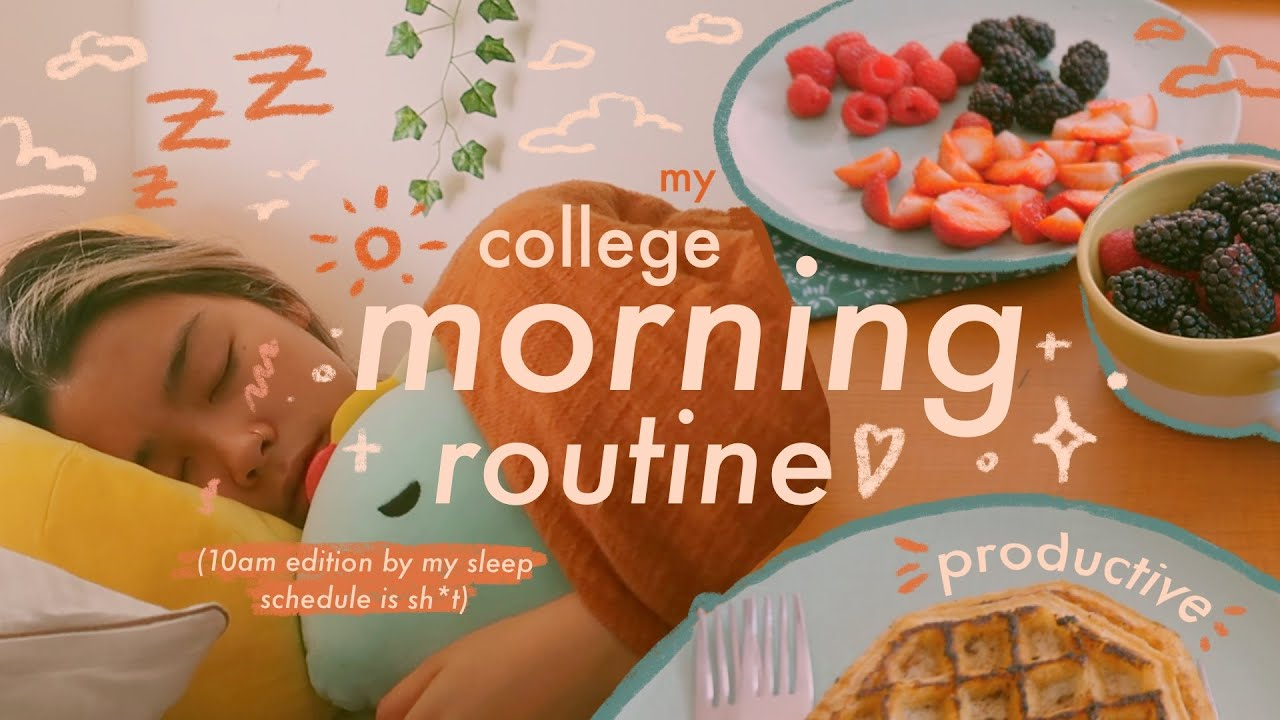 my college morning routine ☾✧・゚: