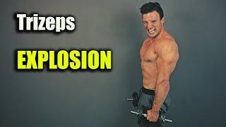 Extremes 5 Minuten Trizeps Workout mit Kurzhanteln   MEGA PUMP EFFEKT!