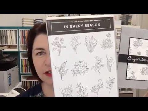 Kylie's Facebook live 23 April - Every Season Stamp Set