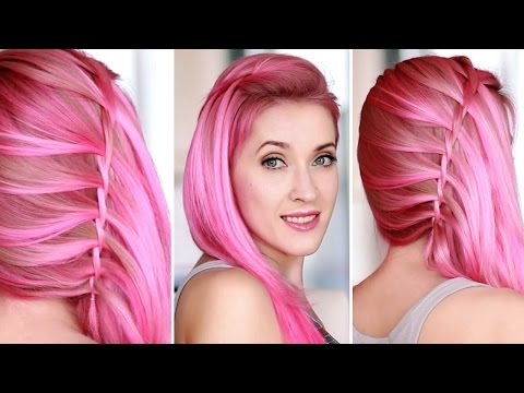 Twisted waterfall braid on yourself ★ Glam Rock hairstyle for medium/long hair