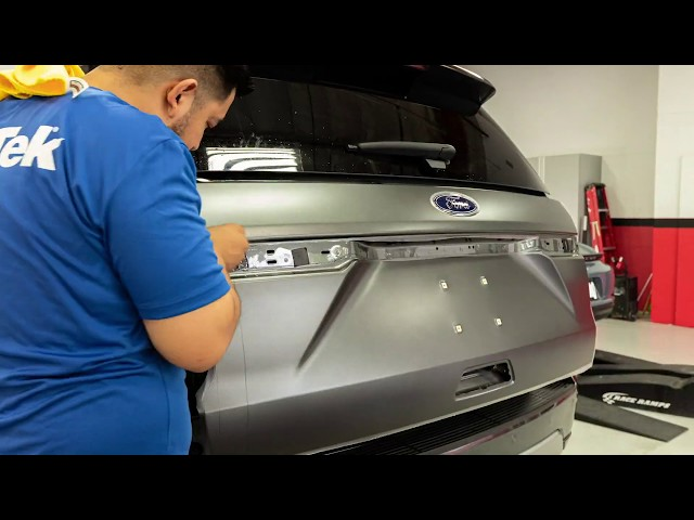 2019 Ford Expedition Paint Protection Film (Clear Bra) Time-lapse process video Thousand Oaks