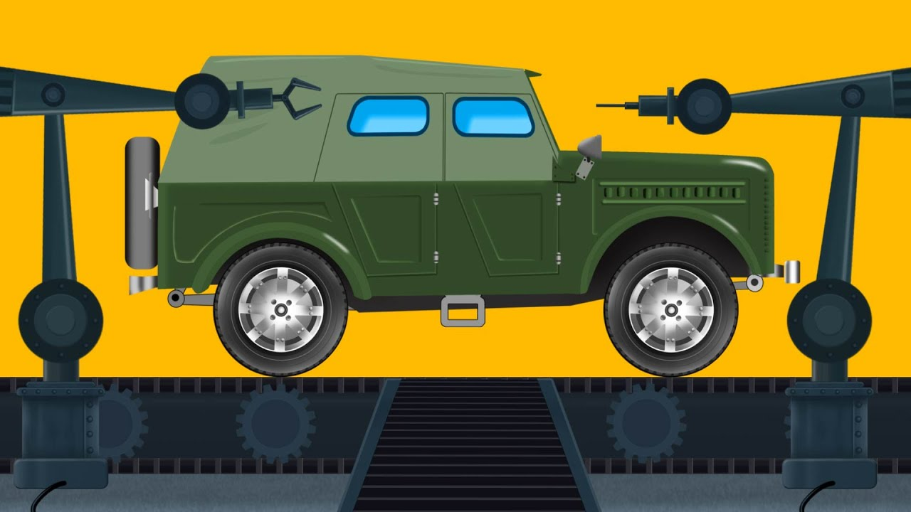 Car Garage | Army Jeep | Games for Kids - YouTube
