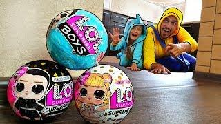 Unboxed! LOL Surprise boy fingir jugar hide and seek con Nastya y papá | unboxing lol con Mi Mi Kids