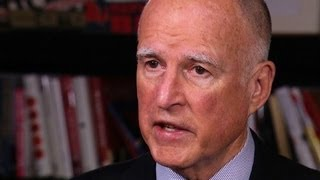 Calif. Gov. Jerry Brown talks drought, political future