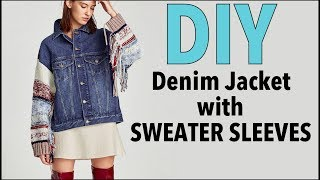 DIY: How To Change Sleeves on a Jean Jacket (DENIM JACKET UPGRADE)- By Orly Shani