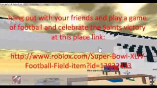 Roblox Game Ad #3 - Super Bowl XLIV Football Field - made by orangitang on roblox