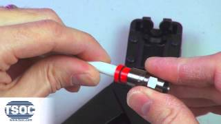 How to Terminate an RG6 F-TYPE Coaxial Compression Connector - The TSOC™ Minute (ep. 2)