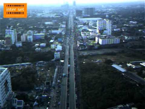 Bangkok Shutdown at Changwattana  13-01-14 Aeryon Scout UAV by ITS