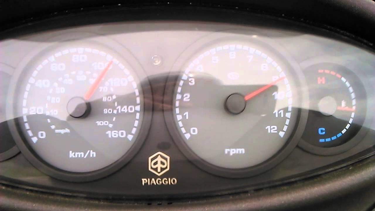 top speed piaggio x9 125 - youtube