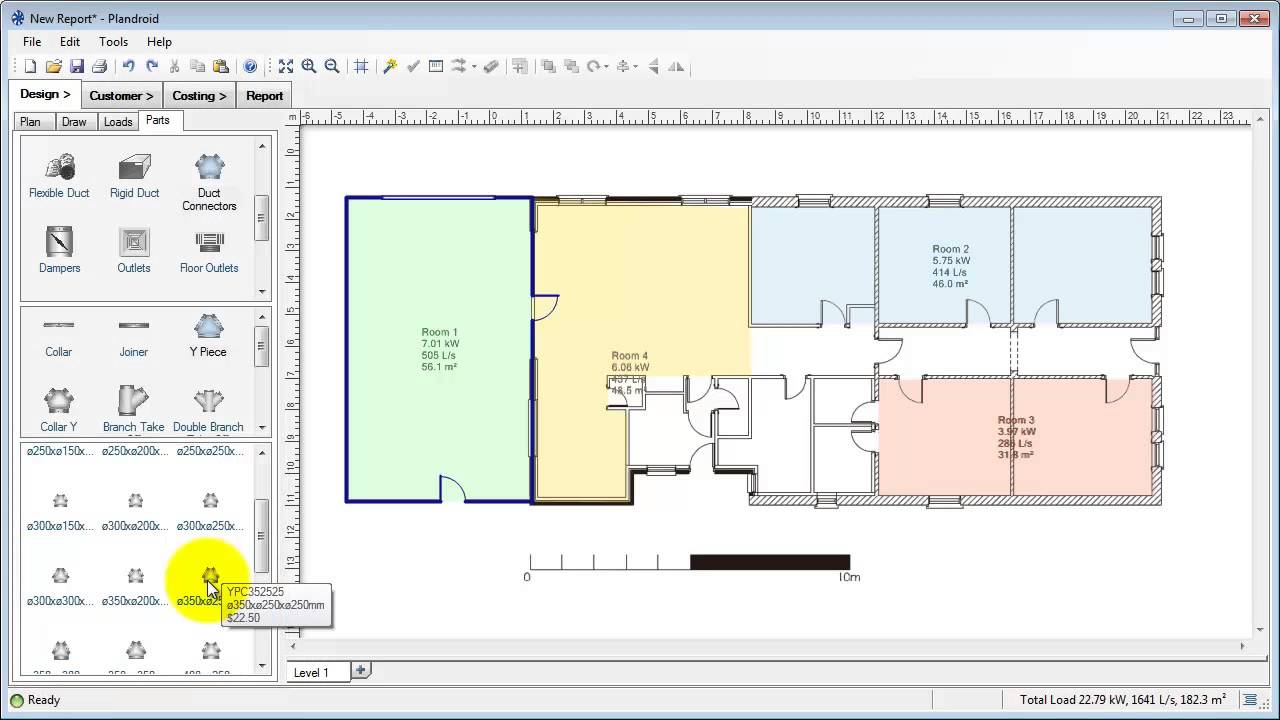 Plandroid air conditioning design software overview youtube for Blueprint software download