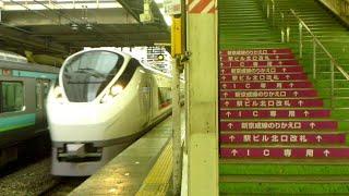 【E657系のトプナン編成】松戸駅を低速で通過する特急ときわ78号