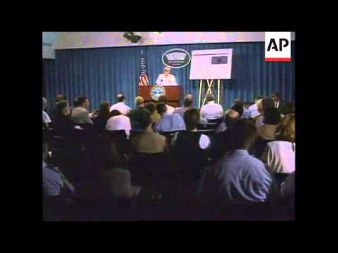 USA: WASHINGTON: US PILOT RESCUED IN BOSNIA PRESS CONFERENCE