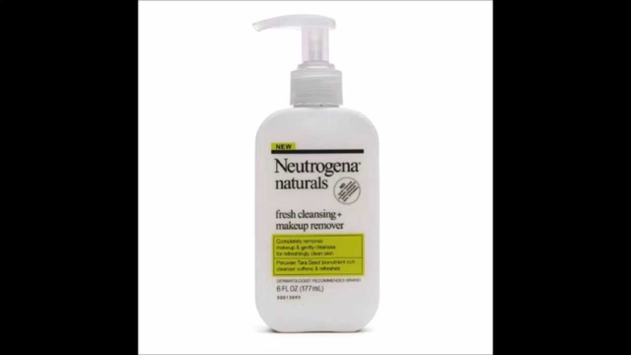 Neutrogena Naturals Fresh Cleansing Makeup Remover Youtube
