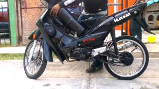 Moto 110cc Modificada con suspension de aire