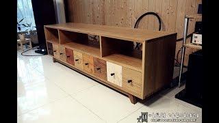 화이트오크 주먹장 결합 거실장 제작기 (making dovetail living room dresser) part-2