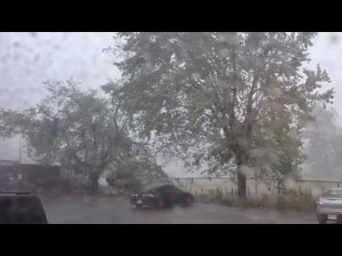 Big Thunderstorm that happened in Ontario, Canada - Video shows Kitchener, Ont, Canada
