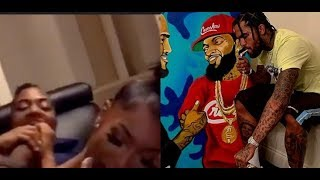 Crip Rapper DAVE EAST Leaving Police Precent Footage Of 3 Some Girl Drug Him..DA PRODUCT DVD