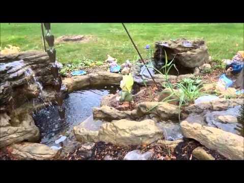 Stunning Garden Waterfalls, ponds & Rock Formations
