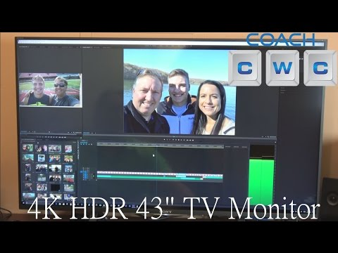 Can You Use a Big Screen TV as Computer Monitor? 4K Sony 43X800D Demo