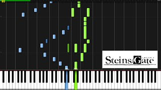 Repeat youtube video Hacking to the Gate (Opening Theme) - Steins;Gate [Piano Tutorial] (Synthesia)