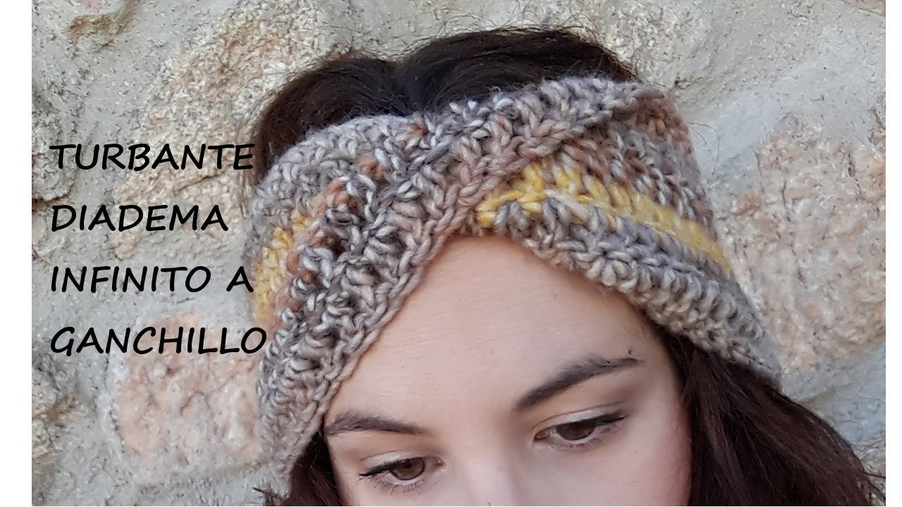 Diadema Turbante Infinito A Crochet Youtube - Diadema-ganchillo