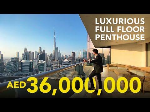 DUBAI'S ULTIMATE 36 MILLION FULL FLOOR PENTHOUSE IN VOLANTE TOWER | VLOG #22