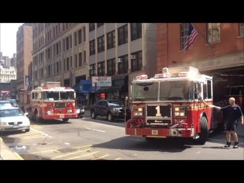FDNY Engine 1 Returning To Station But Gets Another EMS Call And Responds Down West 31st Street