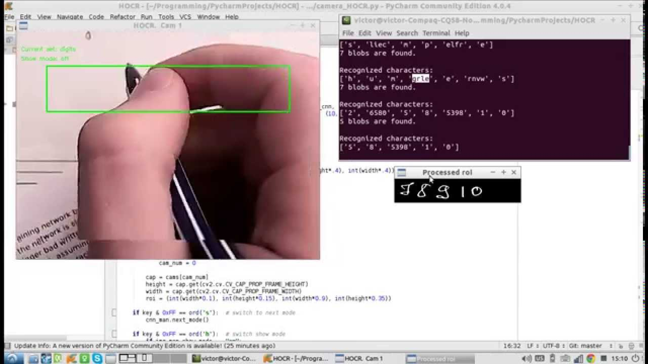 Basic prototype of handwriting recognition system  Watch in HD