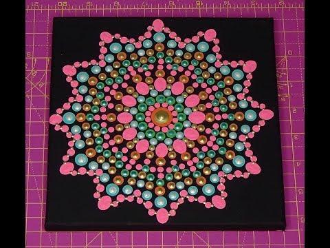 Dot painting with Artist Janette Oakman 41 Mandala Pointillism Symmetric Art