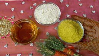 Haldi ceremony - Closeup shot of woman hands placing a bowl of Haldi powder